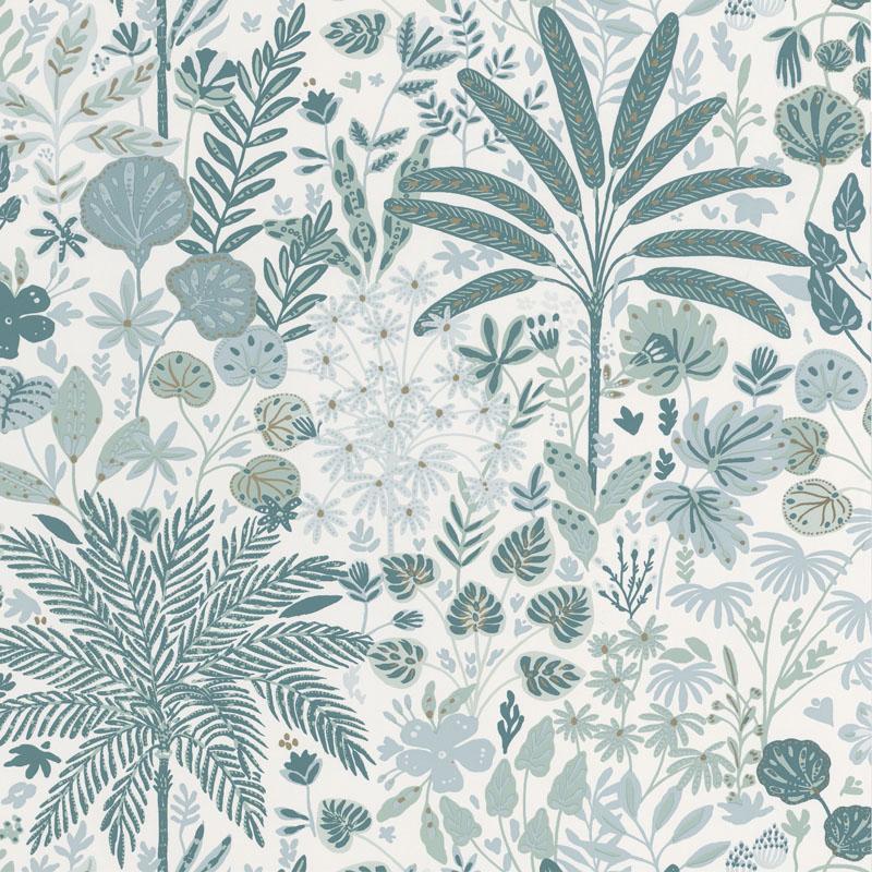 Papier peint Hope vert d'eau et blanc - HYGGE - Caselio - HYG100597128