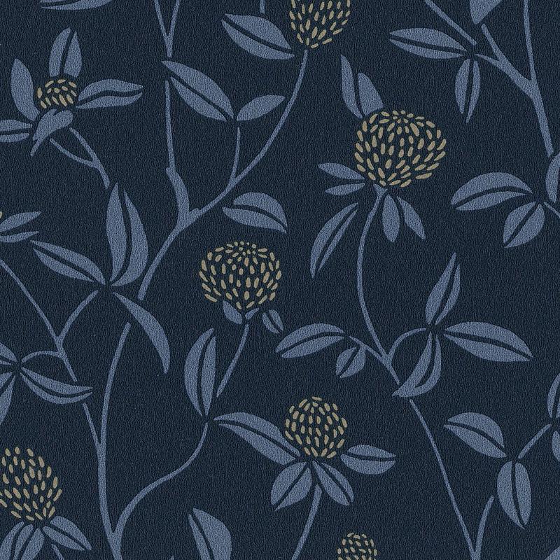 Papier peint Serenity bleu nuit et doré - HYGGE - Caselio - HYG100566905