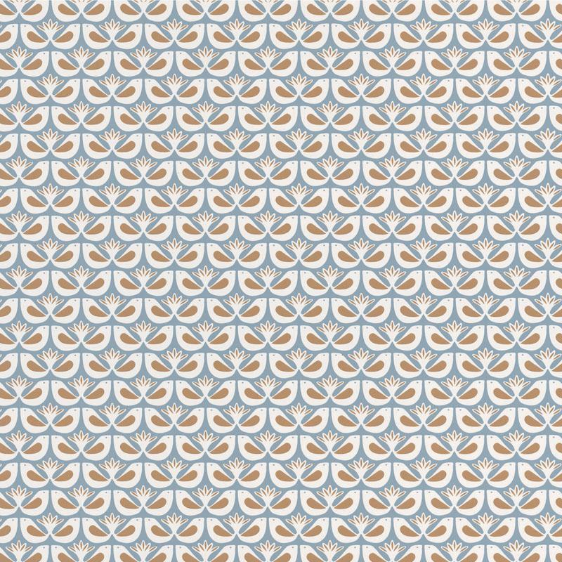 Papier peint Freedom bleu céleste, doré - HYGGE - Caselio - HYG100586517