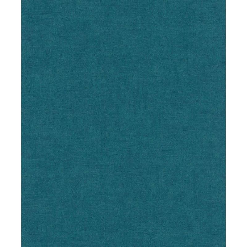 Papier peint Uni bleu canard - Rasch - 490091