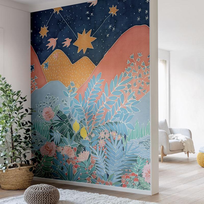 Panoramique Dreamland multicolore - HYGGE - Caselio - HYG100617123