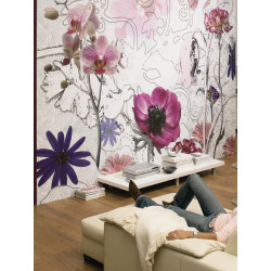 Panoramique PURPLE collection Floral - Komar