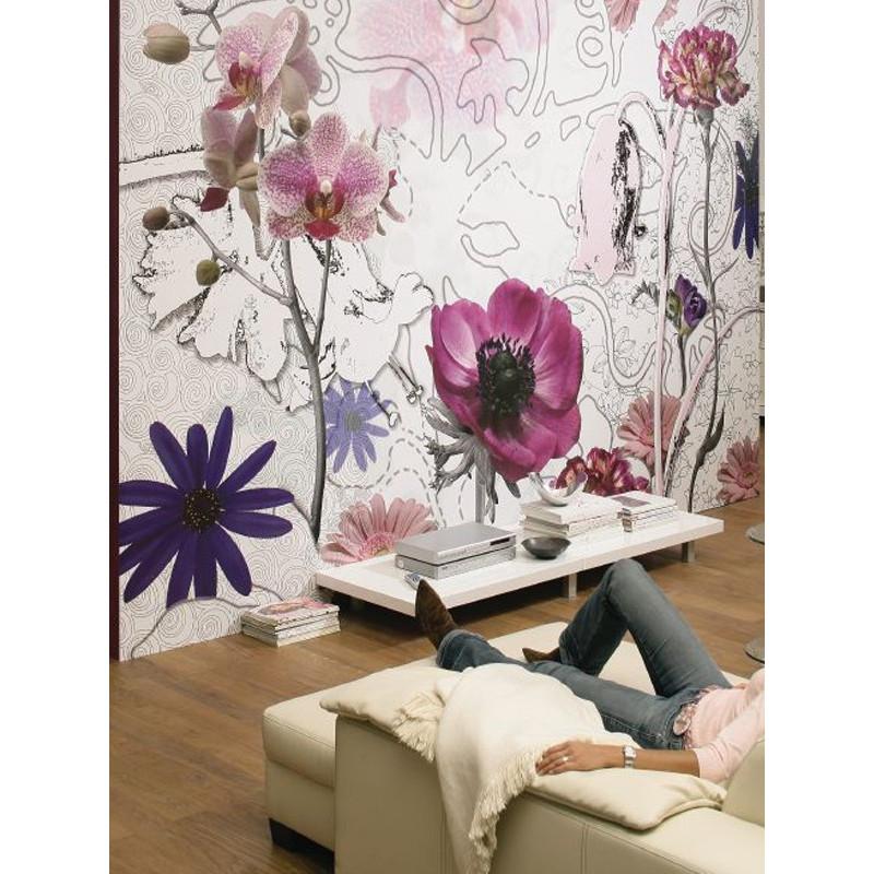 Panoramique PURPLE collection Floral - Komar