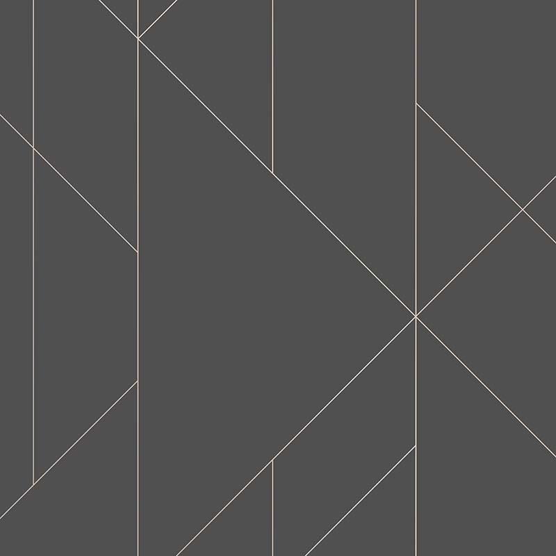 Papier peint Torpa noir et rose gold - TERENCE CONRAN - Lutèce - TC25204
