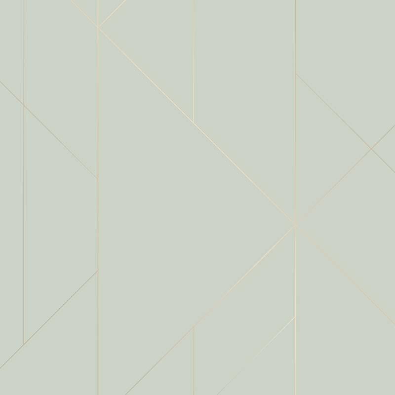 Papier peint Torpa vert opaline et gold - TERENCE CONRAN - Lutèce - TC25202