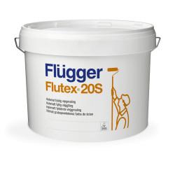Peinture satin FLUTEX 20S blanche Ecolabel - Mur et plafond - FLUGGER
