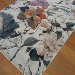 Tapis à fleurs colorées sur fond écru - 160x230cm - ARGENTUM Ragolle