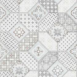 Papier peint carreaux de ciment portugais gris - Imitations - ERISMANN
