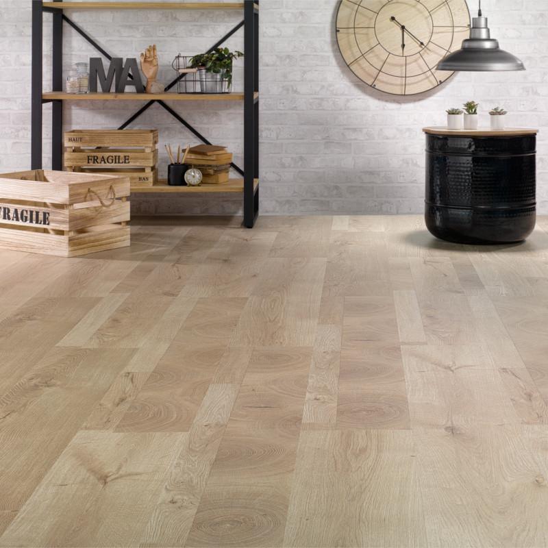 Sol Stratifié patchwork bois clair Inside 540W - Solid 5G ALSAFLOOR