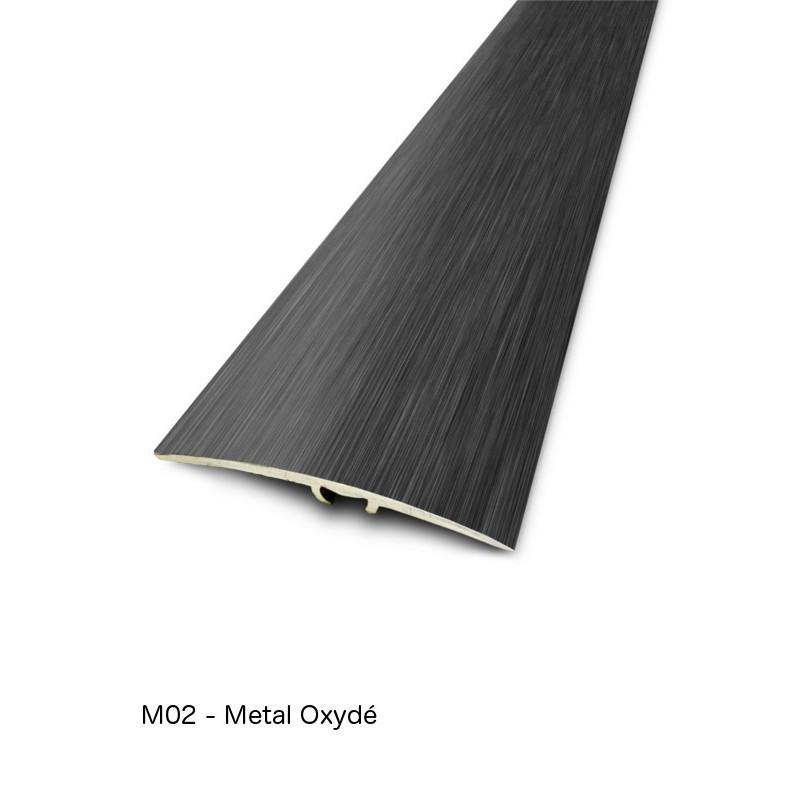 2,70mx41mm - Barre de seuil Metal oxydé Finition métallique - fixation invisible multi-niveaux plaxés Harmony - DINAC