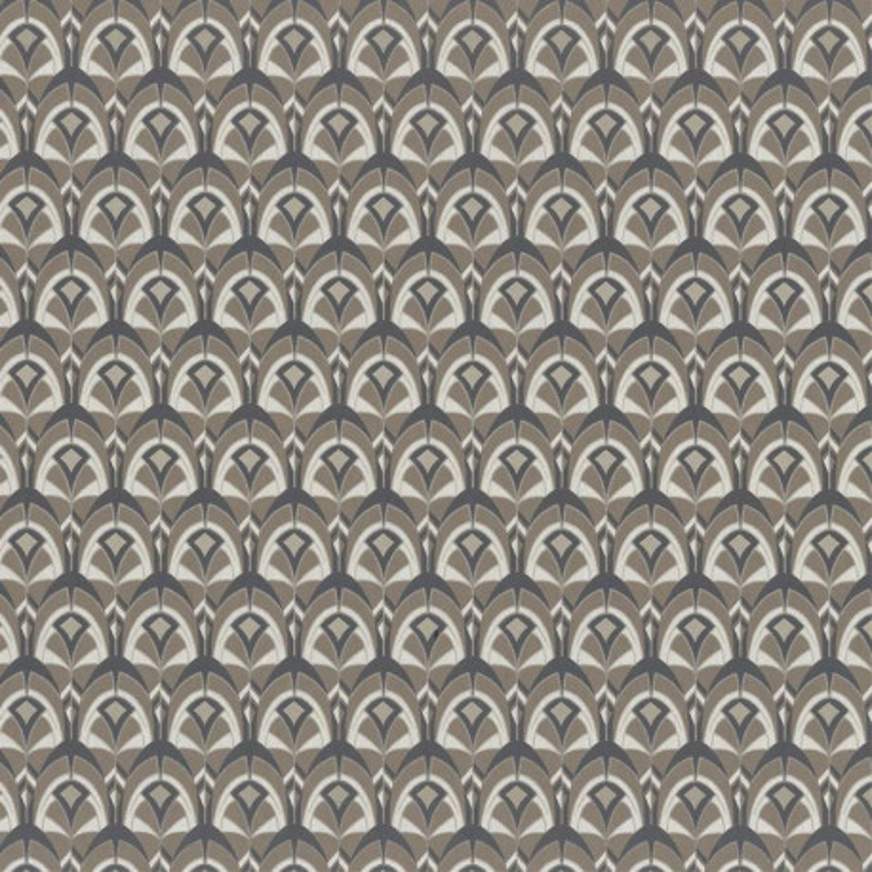 Papier peint Gemmail brun tabac - PORTFOLIO - Casamance - 74000296