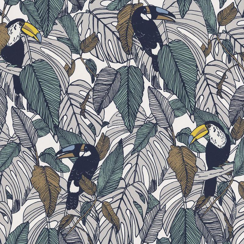 Papier peint Toucan tourterelle - PORTFOLIO - Casamance - 73950133