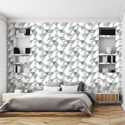 Papier peint Triangles Relief vert - HEXAGONE - Ugepa - L57504