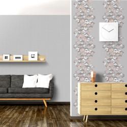 Papier peint Géométrique gris et rose - HEXAGONE - Ugepa - L57703