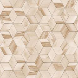 Papier peint Géométrique Bois beige - HEXAGONE - Ugepa - L59207