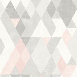 Papier peint Losanges rose - HEXAGONE - Ugepa - L59803
