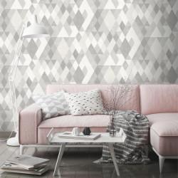 Papier peint Losanges gris - HEXAGONE - Ugepa - L59809
