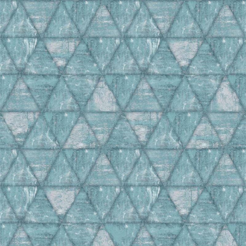 Papier peint Triangles bleu - HEXAGONE - Ugepa - L61701