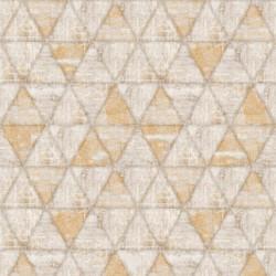 Papier peint Triangles marron - HEXAGONE - Ugepa - L61708