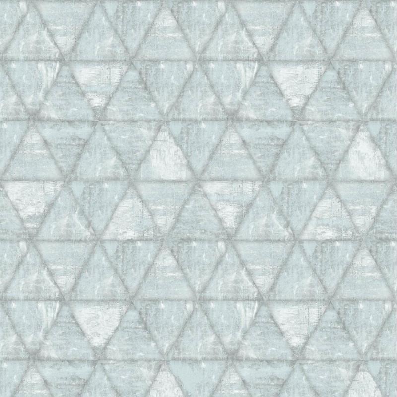 Papier peint Triangles gris - HEXAGONE - Ugepa - L61709