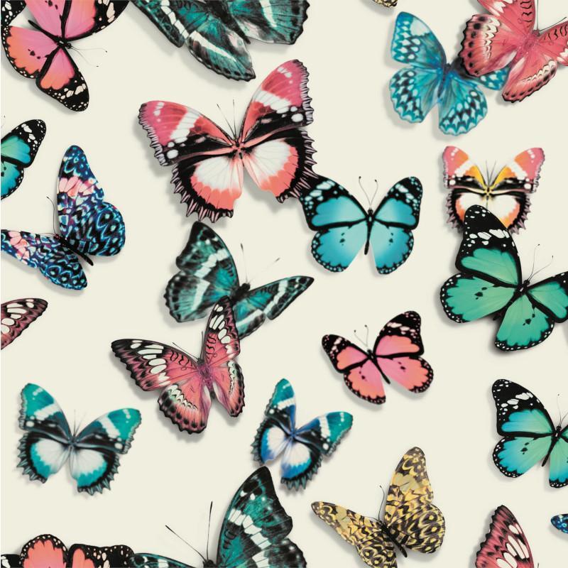Papier peint Papillons multicolores - FAUX SEMBLANT - Ugepa - L13710