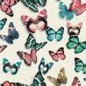 Papier peint vinyle trompe l'oeil Papillons multicolores - FAUX SEMBLANT - UGEPA