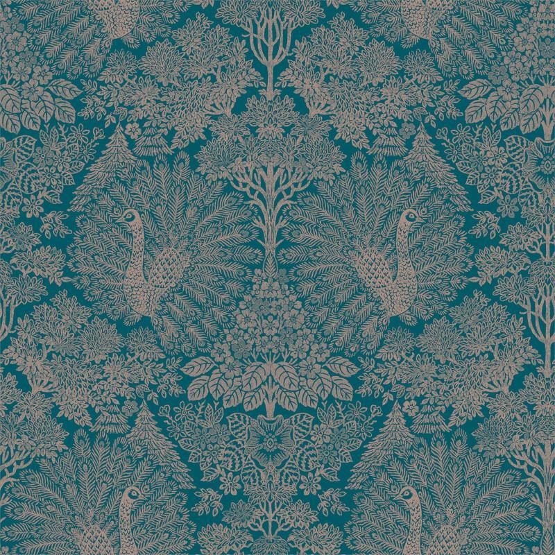 Papier peint Exotique Paons bleu - ESCAPADE - Ugepa - A22203