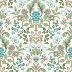 Papier peint intissé à motif Floral vert et rose - ESCAPADE Ugepa