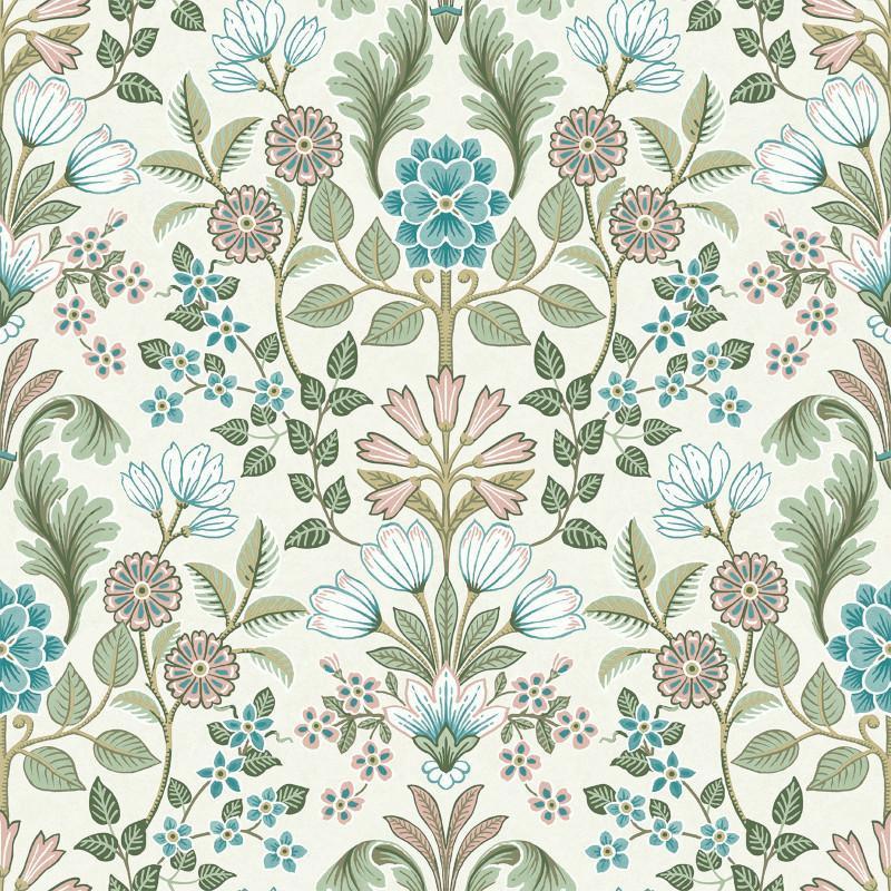 Papier peint Floral vert et rose - ESCAPADE - Ugepa - A41401
