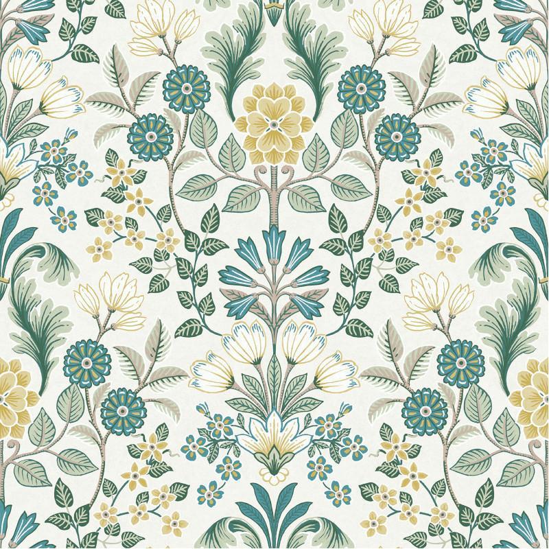 Papier Peint Intissé à Motif Floral Vert Et Jaune Escapade Par Ugepa