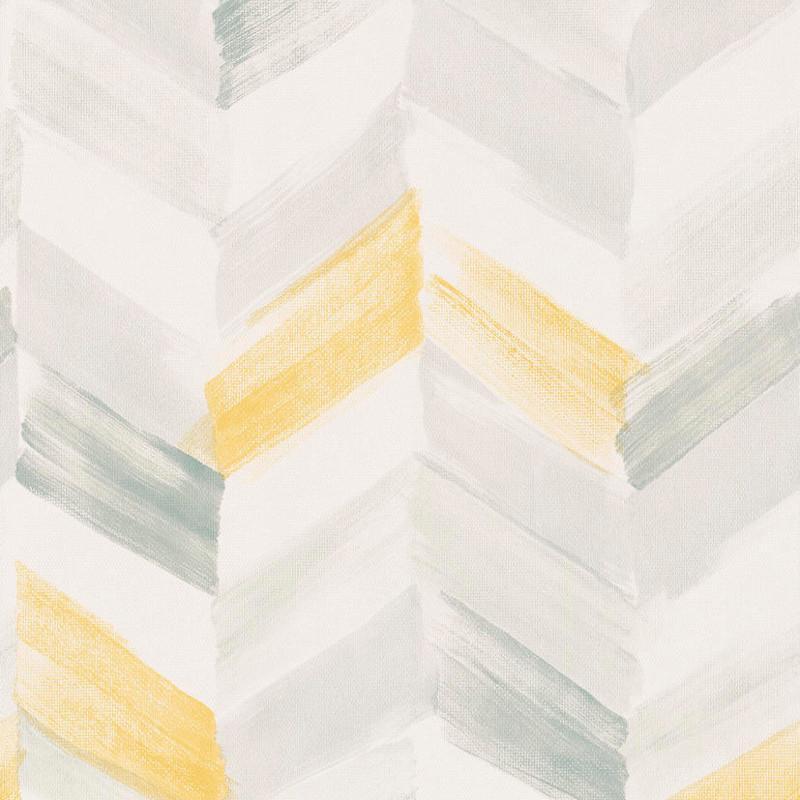 Papier peint Chevrons jaune - INSPIRATION WALL - Grandeco - IW2102