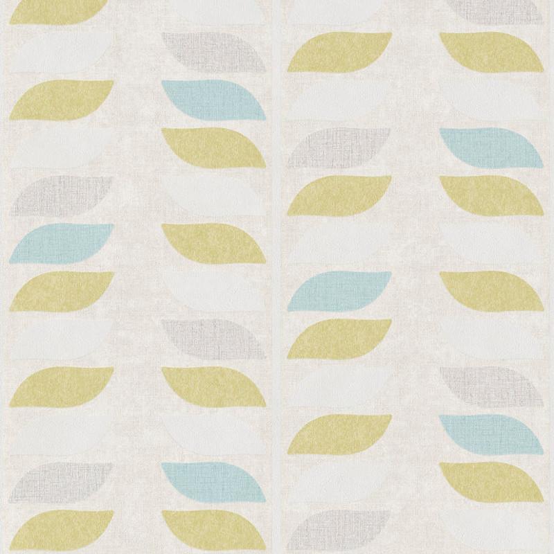 Papier peint Tige vert et bleu - INSPIRATION WALL - Grandeco - IW2203