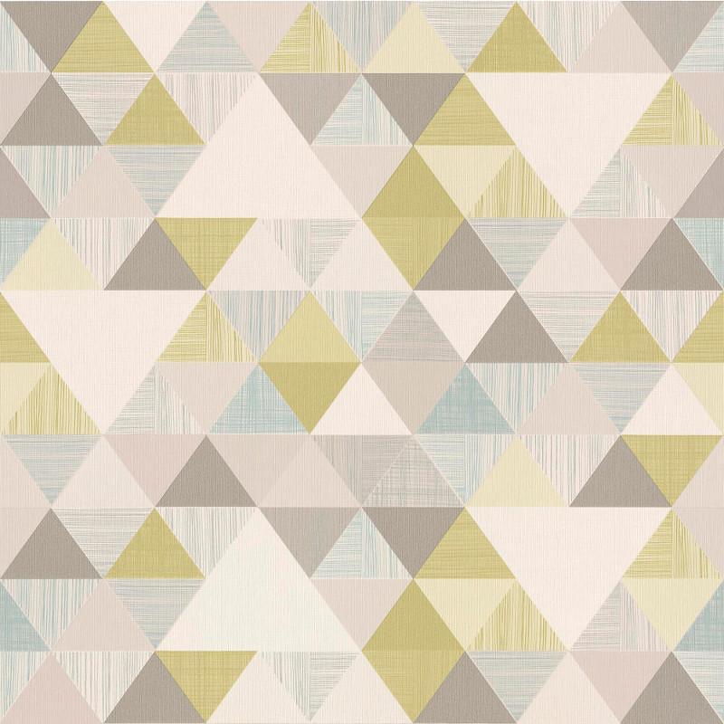 Papier peint Triangles vert - INSPIRATION WALL - Grandeco - IW3003
