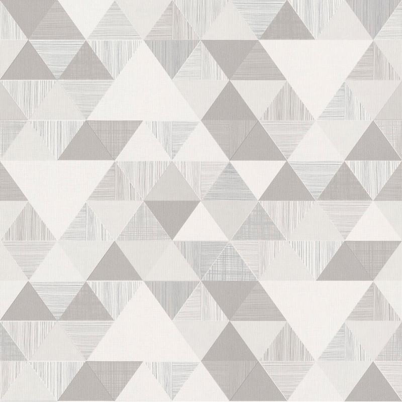 Papier peint Triangles gris - INSPIRATION WALL - Grandeco - IW3004
