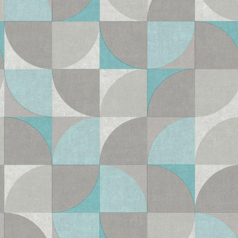 Papier peint Hélice bleu - INSPIRATION WALL - Grandeco - IW3401