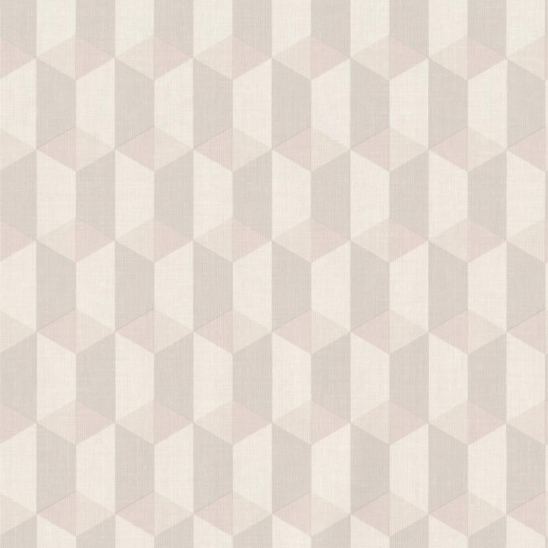Papier peint Cubes beige gris - INSPIRATION WALL - Grandeco - IW3501