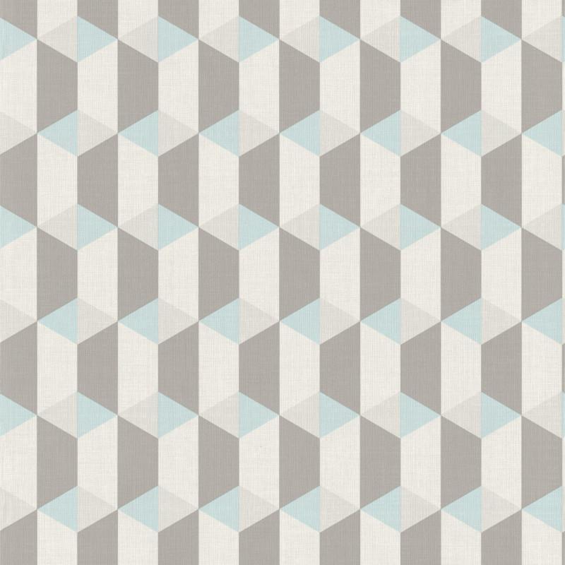 Papier peint Cubes bleus - INSPIRATION WALL - Grandeco - IW3502
