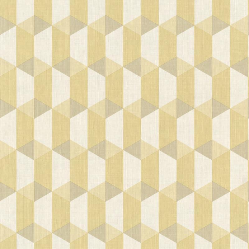 Papier peint Cubes bambou - INSPIRATION WALL - Grandeco - IW3503