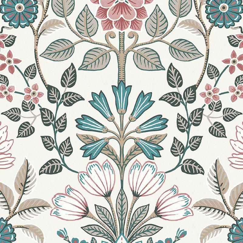 Papier peint Floral bleu et rouge - ESCAPADE - Ugepa - A41410