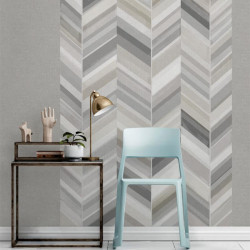 Panoramique à motif Chevrons gris - INSPIRATION WALL - GRANDECO