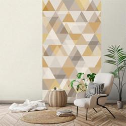 Panoramique à motif Triangles moutarde - INSPIRATION WALL - GRANDECO