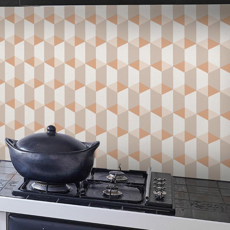 Papier peint Cubes orange - INSPIRATION WALL - Grandeco - IW3504