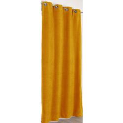 Rideau à œillets jaune moutarde - Alaska - Linder