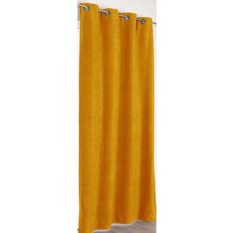 Rideau à œillets Alaska jaune moutarde - Linder - 0553-39