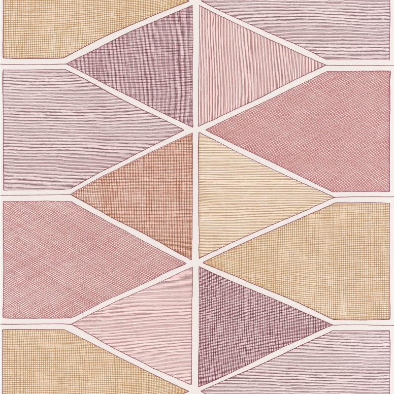 Papier peint Stella Color bordeaux et miel - NOVA - Casadeco - NOVA84158404