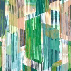 Panoramique intissé VILMA vert - Collection NOVA - Casadeco
