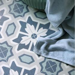 Revêtement PVC - Largeur 3m - Eleanor Ceramica 575 bleu - Leoline IVC
