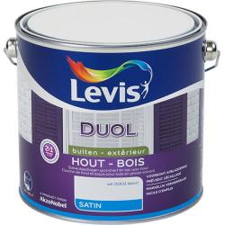 """Peinture bois extérieur """"DUOL"""" blanc satin - LEVIS"""