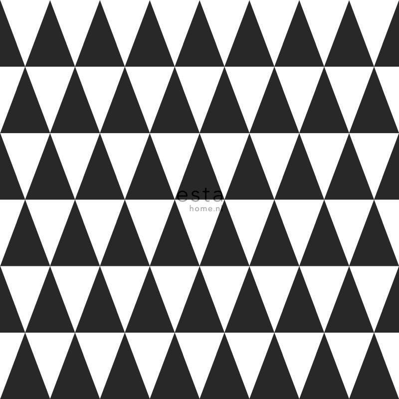 Papier peint Triangles géométriques noir - LITTLE BANDITS - Esta Home - 128845