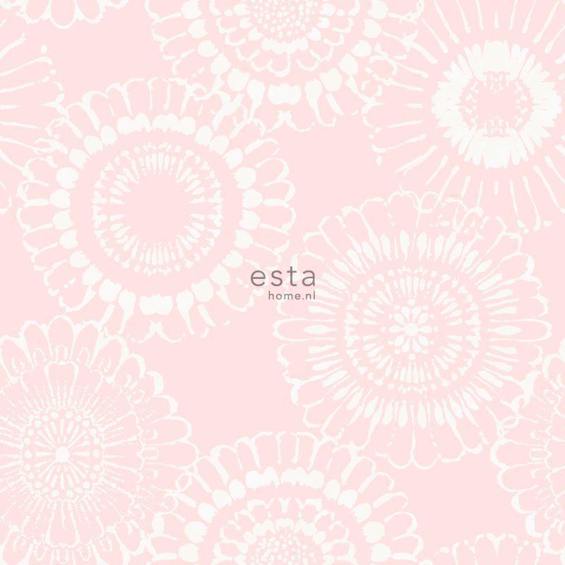 Papier peint Fleurs rose - LITTLE BANDITS - Esta Home - 128860